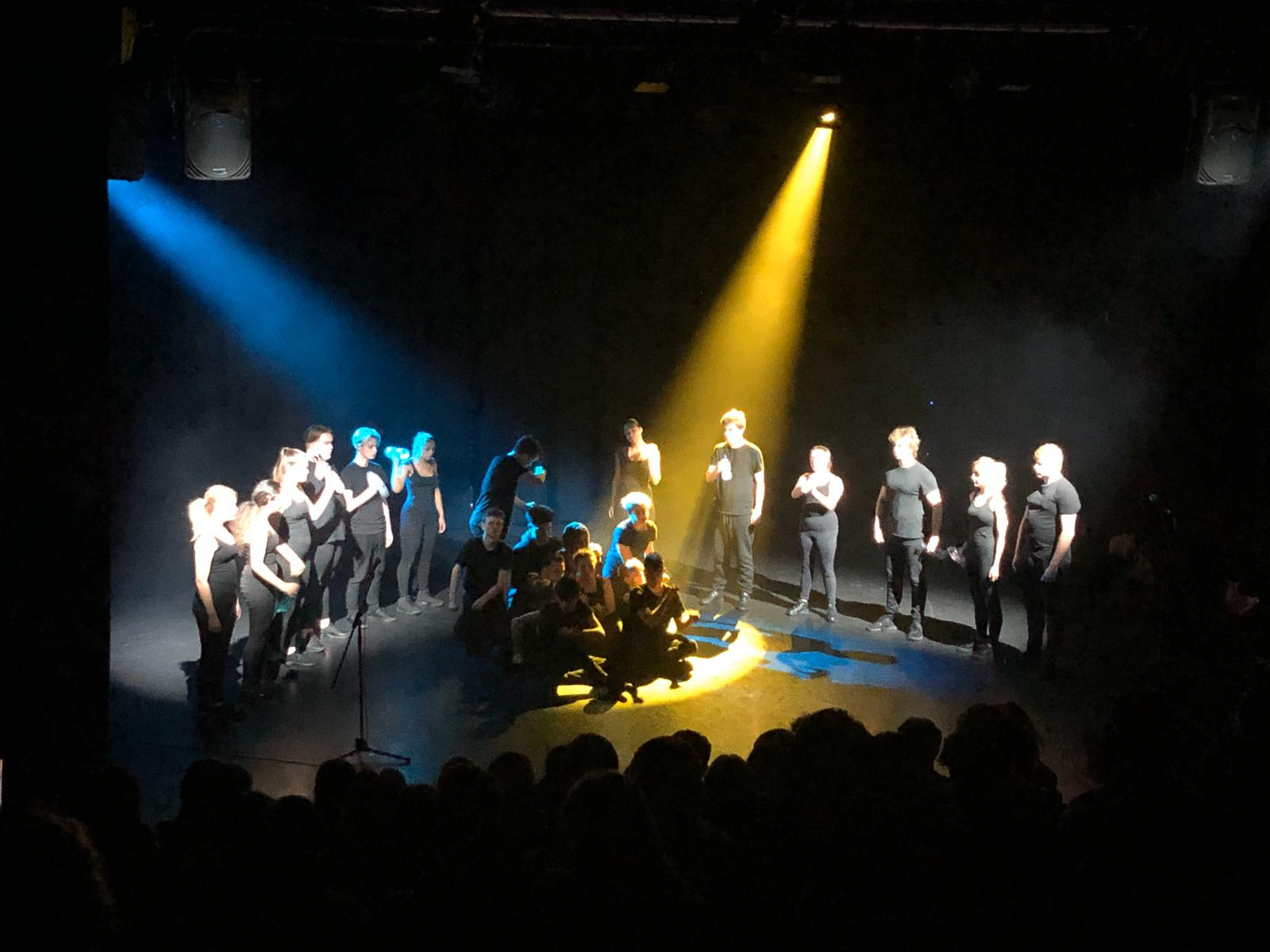 Picture of performance of Home at Miskin Theatre