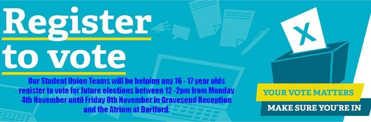 Register to vote leaflet