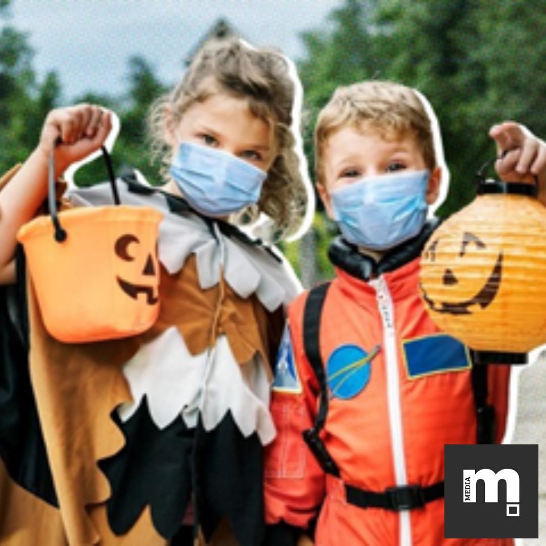Kids with Halloween