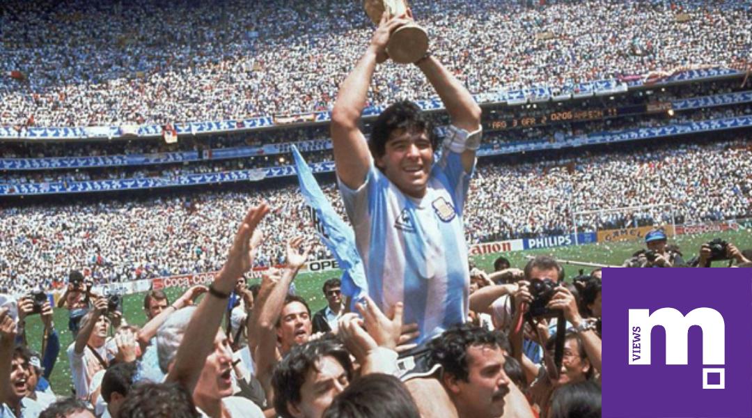 Diego Maradona Lifts the World Cup